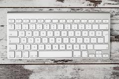 Wireless Modern Computer Keyboard with the Turkish Alphabet Stock Photos
