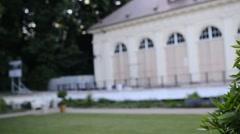 Sculpture of Pompeius Magnus in Lazienki Park Stock Footage