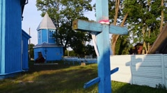 Church of St. Paraskeva in Divin Stock Footage