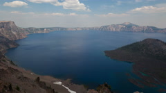 4K Timelapse Crater Lake National Park zoom out Stock Footage
