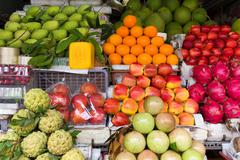Tropical fruit stall - stock photo