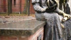 Statue of Nicolaus Copernicus in Olsztyn, Poland Stock Footage
