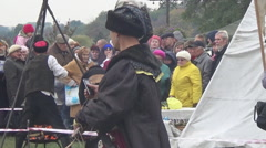 Cossacks is cooked in a vat,  Ukraine Stock Footage