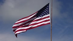 The American Flag waving in the wind - stock footage