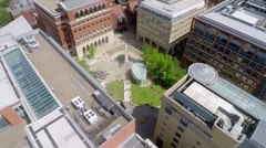 Birmingham City center reveal shoot of city scape Stock Footage