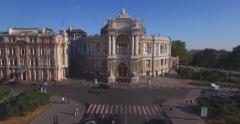 Amazing Opera House - true pearl of European architecture (Aerial) - stock footage