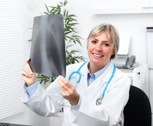 Mature medical doctor woman. - stock photo