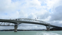Auckland Harbor bridge New Zealand. Stock Footage