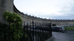 Traditional English Architecture: Royal Crescent, Bath Spa, England, Europe Stock Footage