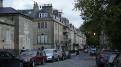 English Town houses (City of Bath), England, Europe Stock Footage