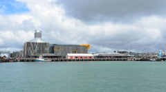 Wynyard quarter waterfront in Auckland, New Zealand Stock Footage