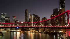 4K Time lapse Brisbane Story Bridge Stock Footage