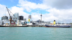 Auckland Skyline New Zealand Stock Footage