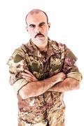 Confident soldier - stock photo