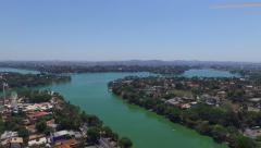 Aerial view of Belo Horizonte in Minas Gerais, Brazil Stock Footage