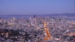San Francisco Day to Night Time Lapse Stock Footage
