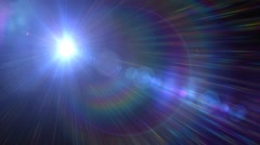 Fantasy glowing lens flares abstract background Stock Footage