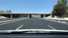 Stock Video Footage of Driving on French A8 autoroute. Nice, South of France.