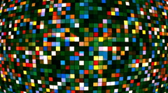 Broadcast Twinkling Hi-Tech Squares Globe, Multi Color, Abstract, Loopable, HD Stock Footage