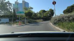 Roundabout with sign showing direction to Nice and Cote d'Azur. Stock Footage