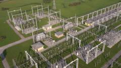 Aerial - Power substation Stock Footage