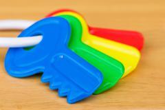 Kids Plastic Colorful Keys - stock photo