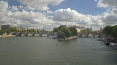 Paris Seine landscape Stock Footage