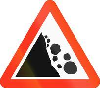 Falling Rocks in Bangladesh Stock Illustration