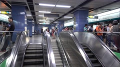 Stock Video Footage of People in Guangzhou Metro,Canton,China