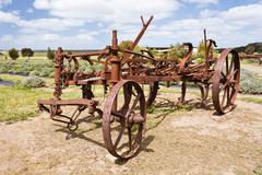Antique rusty plough Stock Photos