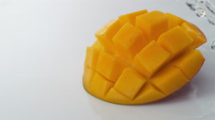 Water splash and mango. Slow Motion. - stock footage