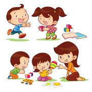 Educate children Stock Illustration