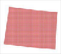 Red Dot Map of Colorado Stock Illustration