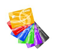 Realistic credit cards set Piirros