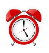 Red Alarm Clock Illustration Isolated on White Background Stock Illustration