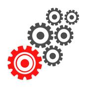 Abstract cogs - gears - stock illustration