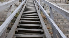 A wooden staircase. Russia. 1280x720 Stock Footage