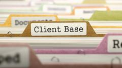 Client Base Concept on Folder Register Stock Illustration