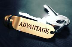 Keys with Word Advantage on Golden Label - stock illustration