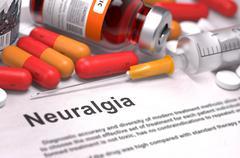 Diagnosis - Neuralgia. Medical Concept - stock illustration
