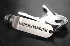 Understanding Concept. Keys with Keyring Stock Illustration