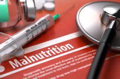 Malnutrition. Medical Concept - stock illustration