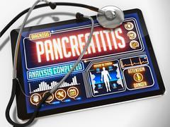 Pancreatitis on the Display of Medical Tablet Stock Illustration