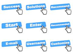 Web Submit Button Stock Illustration