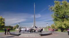 Monument To the Conquerors of Space, Moscow, Russia Stock Footage