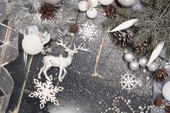 Christmas Background with a Snowflake Stock Photos