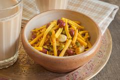 Bombay mix and Chai Tea Stock Photos