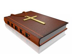 Bible Rosary Cross Stock Illustration