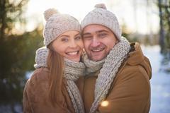 Happy sweethearts Stock Photos