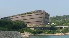 Hong Kong Ma Wan Park Island Noah's Ark. - stock footage